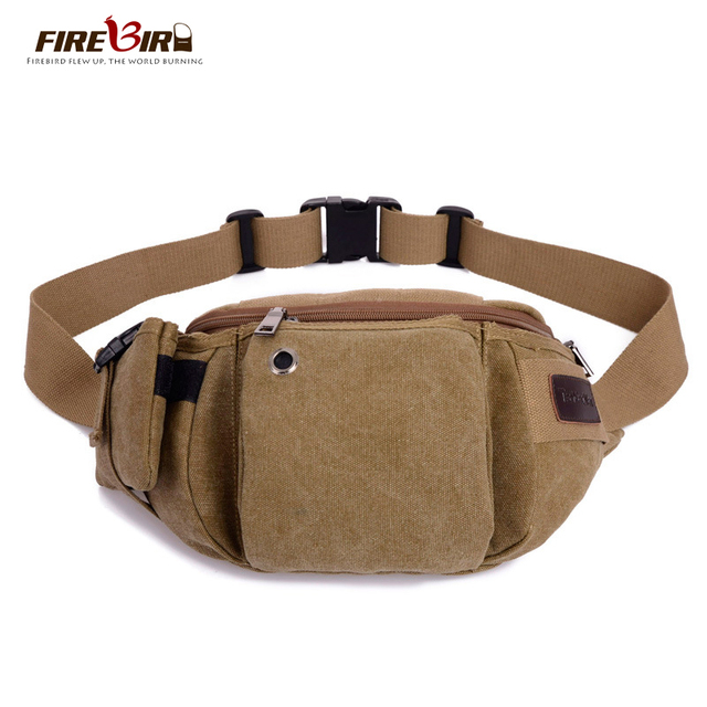 Firebird!Korean Men's canvas waist bag 2016 New men casual waist bags Travel waist bag Mobile chest pack H152