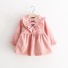 Little Princess Dress Thick and Warm Girls Kids Clothes Winter V-neck Thick Children Clothing Fashion Girls Dress Clothing