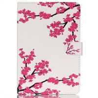 Colofrul Pattern Plum Flower Card Slot Wallet PU Leather Stand Flip Case Cover For IPadMini 4