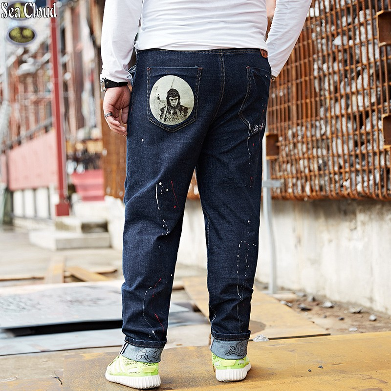 Sea Cloud Free shipping big size M-8xl plus men jeans Chinese style pants male military long trousers hiphop pants hip hop m style шкатулка leaves big