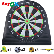 цена Sayok 3m/4m/5m Outdoor Inflatable Soccer Darts Board Inflatable Football Dart Board with 6pcs Inflatable Balls for Sports Game онлайн в 2017 году