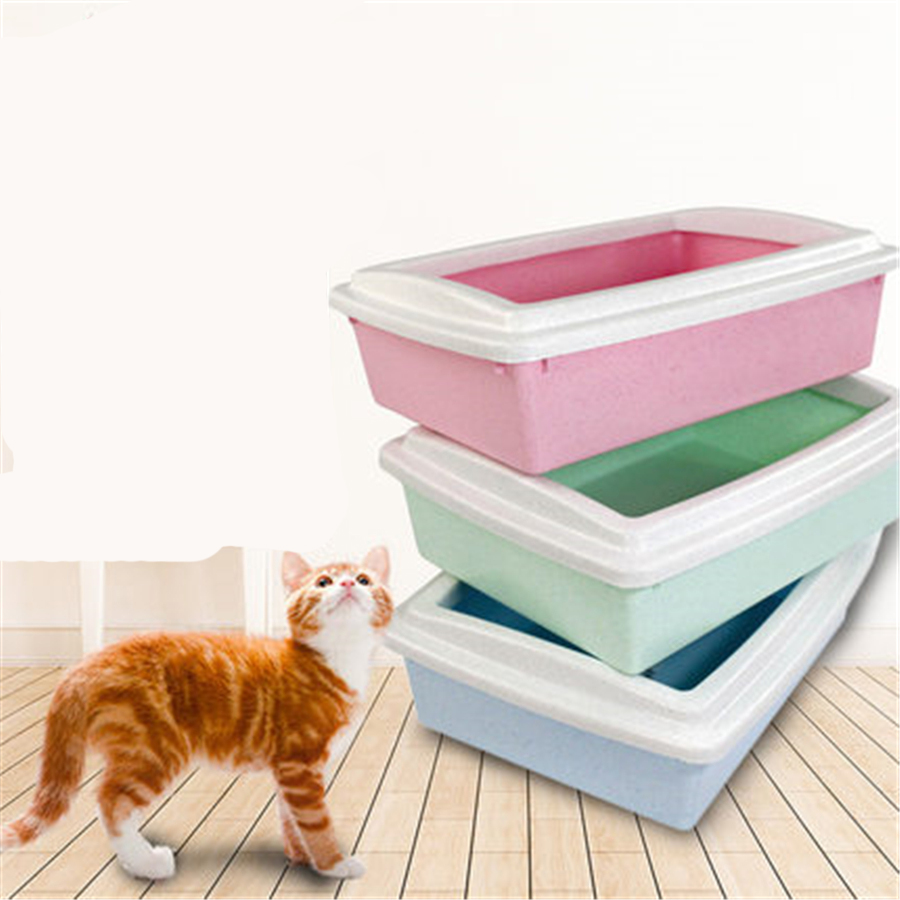 Enclosed Large Cat Closed Box Litter Health Supplies Plastic Box Toilet Litter Sand BedPan Basin Dog Pets House Trays DDM2415