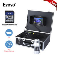 EYOYO F08 7 TFT LCD Screen 1000TVL 20M Cable 360degree Panning Underwater Fishing Camera 18LED High