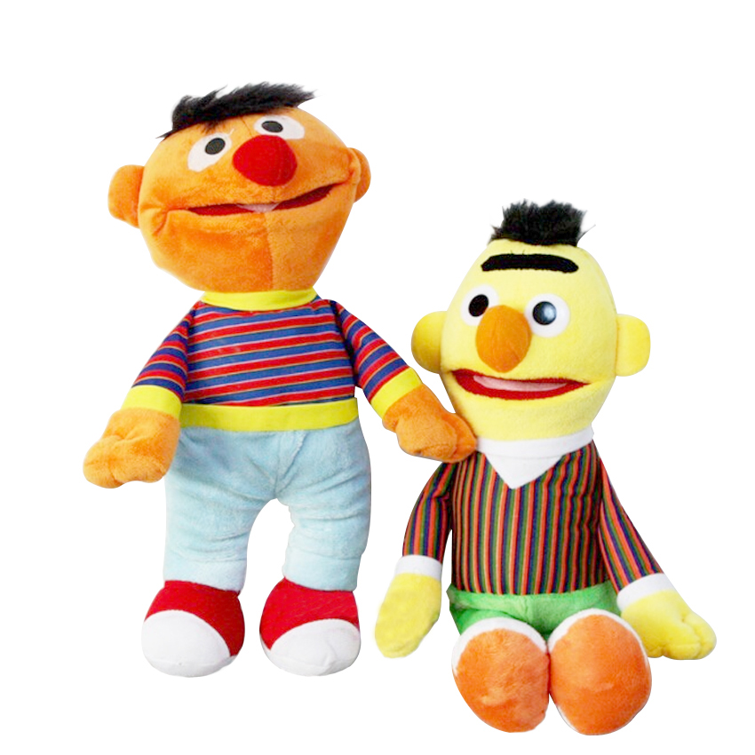 2pcs/lot Cartoon Plush Toys Sesame Street Ernie And Bert Creative Doll Stuffed Toy Super Quality Free Shipping