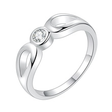 bright zircon shiny Silver plated Ring Fashion Jewerly Ring Women Men NMLHMQIM ZJMAHYMI