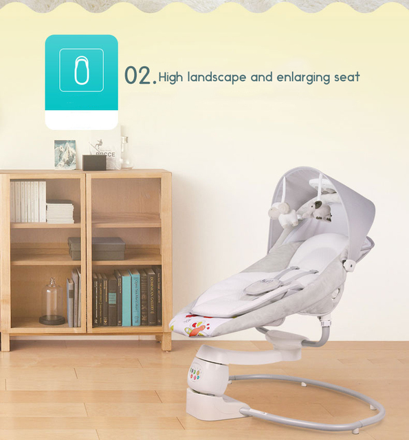 EU safety baby rocking chair 0-3 baby Electric cradle rocking chair soothing the baby's artifact sleeps newborn sleeping 1