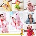 S (0-2 anos)-Varejo Com Capuz Animal modelagem Bebê Roupão/Bebê Dos Desenhos Animados Toalha de Spa/caráter crianças roupão de banho/infantil toalhas de praia