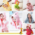 S (0-2 years) Retail- Hooded Animal modeling Baby Bathrobe/Cartoon Baby Spa Towel/Character kids bath robe/infant beach towels