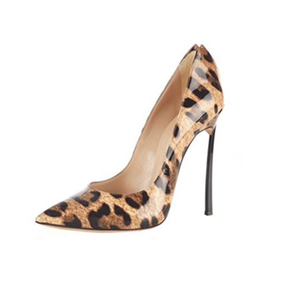 Aidocrystal Size 35-42 Women Pumps 2017 Sexy High Heels Pointed Toe Party Shoes Woman Wedding Office Pumps 4 Color Leopard Heels