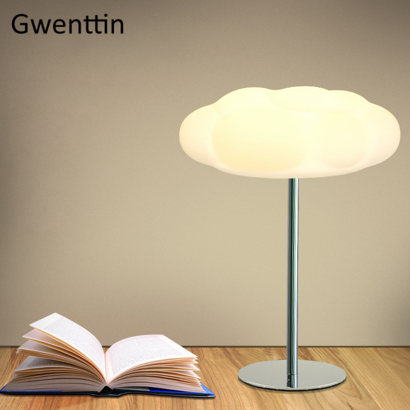 Cloud Table Lamps Modern Home Decor Stand Desk Lights for Study Reading Bedroom Beside Lamp Led Light Fixtures Nordic LuminariasCloud Table Lamps Modern Home Decor Stand Desk Lights for Study Reading Bedroom Beside Lamp Led Light Fixtures Nordic Luminarias