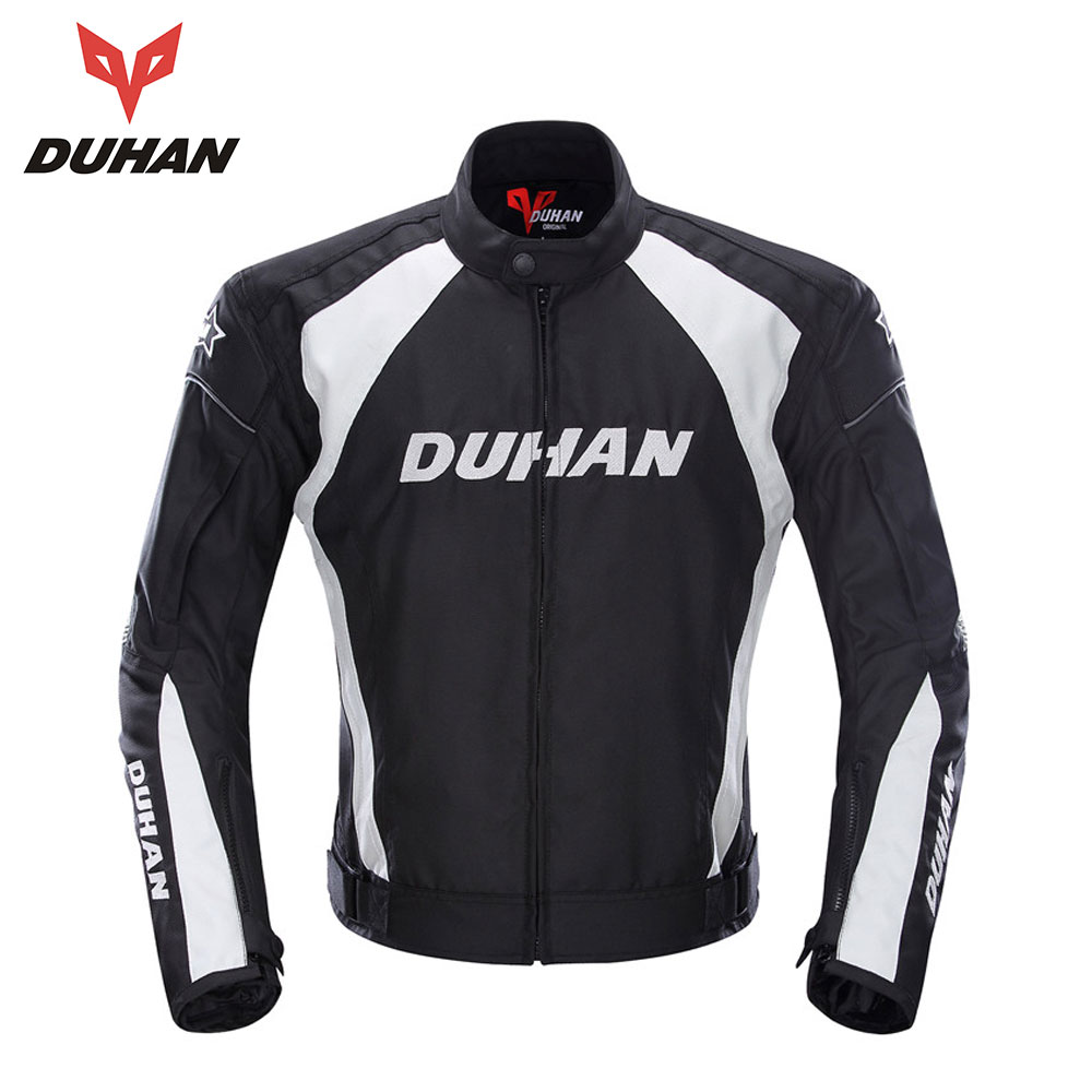 DUHAN Motorcycle Jacket Men Windproof Riding Off-Road Racing Sports Jackets Moto Equipment Clothing With Five Protector Guards duhan motorcycle waterproof saddle bags riding travel luggage moto racing tool tail bags black multifunction side bag 1 pair
