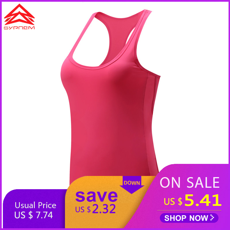 Syprem yoga top vrouwen sexy dames yoga tank tops sneldrogend losse ademend mouwloze running sport fitness vest, 1FT6645