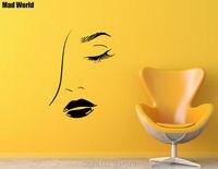 Mad העולם-עיניים סקסיות פת שיער סלון יופי מדבקות מדבקות קיר אמנות קיר מדבקות בית DIY קישוט נשלף חדר דקור מדבקות קיר