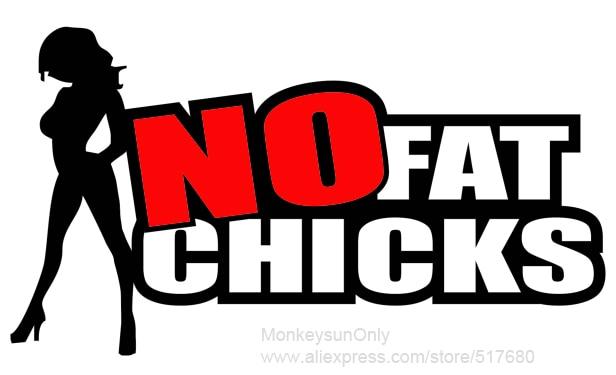 No Fat Chicks Decal