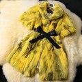 New women's Genuine real natural Rabbit Fur Coat Women fashion jacket ladies Winter Warm Overcoats vest big size 88-120 bust