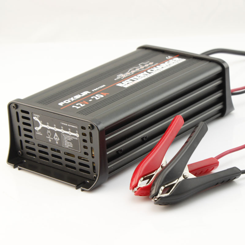FOXSUR 12V 20A 7-stage smart Lead Acid Battery Charger, Car battery charger, MCU controlled, pulse charge For SLA,AGM,GEL,VRLA selling hot mean well add 155a meanwell add 155 152 75w dual output with battery charger usp function power supply