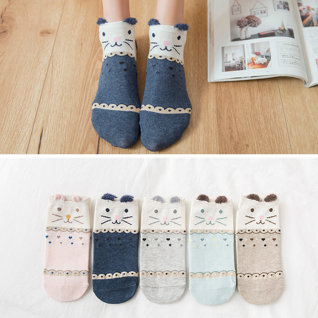 5 Pair of socks with shapes for women