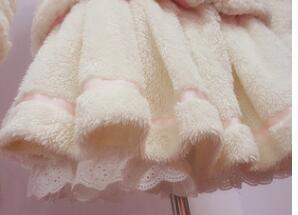 Lovely White Pleated Soft Faux Fur Lolita Skirt