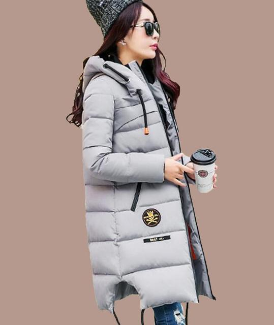 2016 Winter Thickening Women Parkas Women Wadded Jacket Outerwear Fashion Cotton-padded Jacket Medium-long Coat Army Green