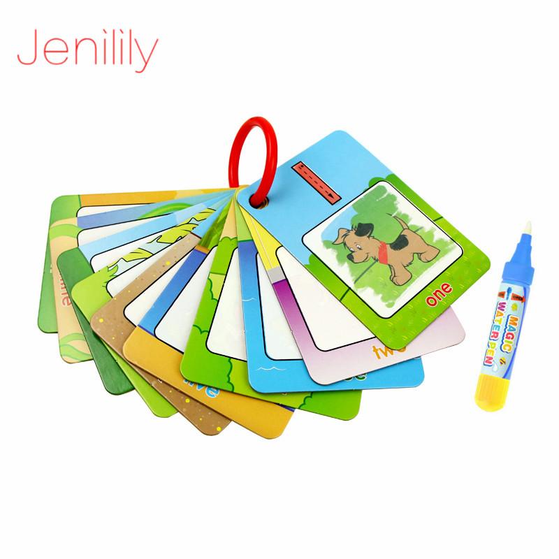 3 Styles Water Drawing Painting Coloring Paper Mat Cards With Magic Pen Drawing Board Educational Toys For Children Kids