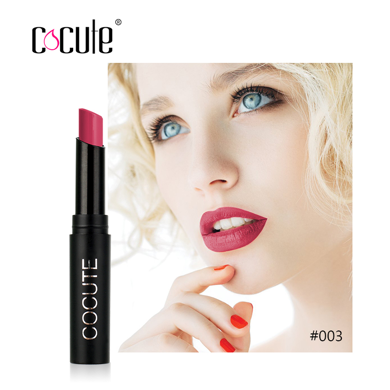 Cocute Long-lasting Matte Lipstick Moisturizer Lips Makeup Cosmetics Waterproof 15 Color Easy to Wear Nude Sexy Lip Stick 2.5g  5