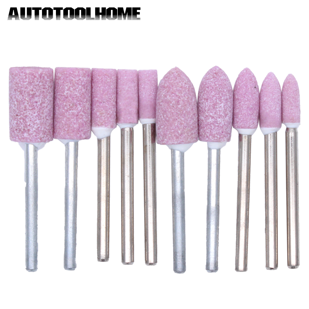 10Pack 1//8Shank Oval Mounted Point Grinding stone With Shaft