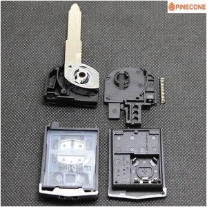 PINECONE для ключа чехол для MAZDA 3 5 6 серии M6 RX8 MX5 Автомобильный ключ 2 кнопки Uncut Blade удаленное Замена откидной складной пустой чехол для ключа