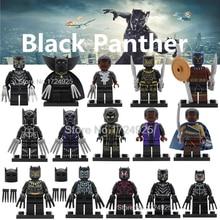 Pantera negra Venda Marvel Super Hero Figura Único T'Challa Wakanda Illuminati Avengers Conjunto Modelo de Blocos de Construção de Tijolos Brinquedos