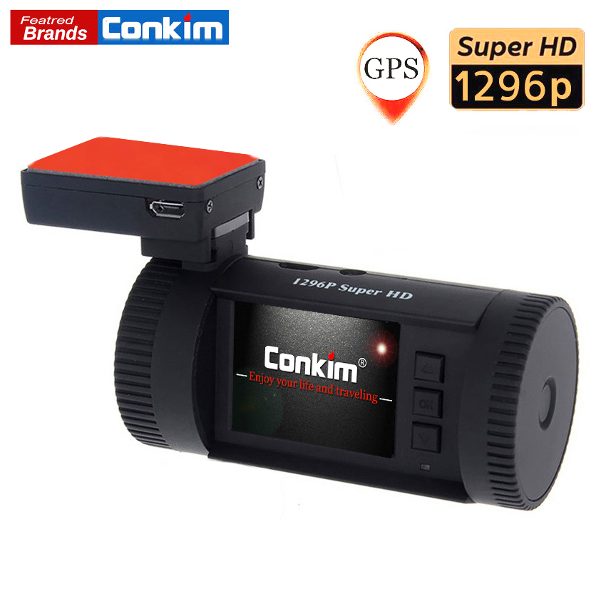 Conkim Voiture Dash Caméra MINI 0826 p 1296 p 30fps H.264 WDR GPS DVR Greffier Vidéo Parking Capteur Basse Tension protection Condensateur