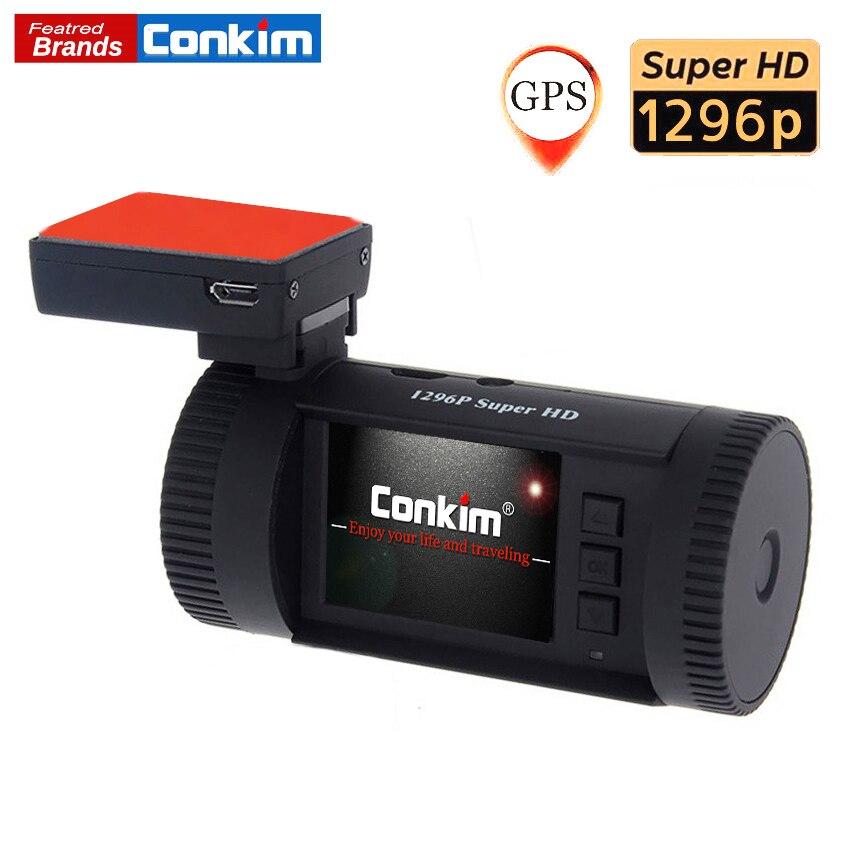 Conkim Auto Dash Kamera MINI 0826 p 1296 p 30fps H.264 WDR GPS DVR Video Kanzler Parkplatz Sensor Niedrigen Spannung schutz Kondensator