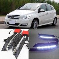 Белый светодиодный Габаритные огни DRL светодиодный противотуманный фонарь для Mercedes Benz B CLASS W245 B150 B170 B180 B200 2008 2009 2010