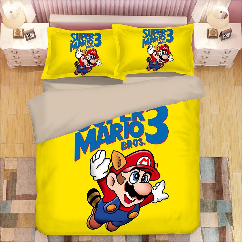 2019 Hot NS Game Super Mario Odys 3D Bedding Set Duvet Covers Pillowcases Comforter Bedding Sets