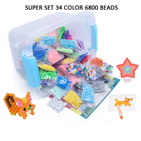 3D Puzzle Multicolor DIY Water Spray Magic Aqua Ring Refill Toys For Children Educational Kit Ball Game Beads Juguetes