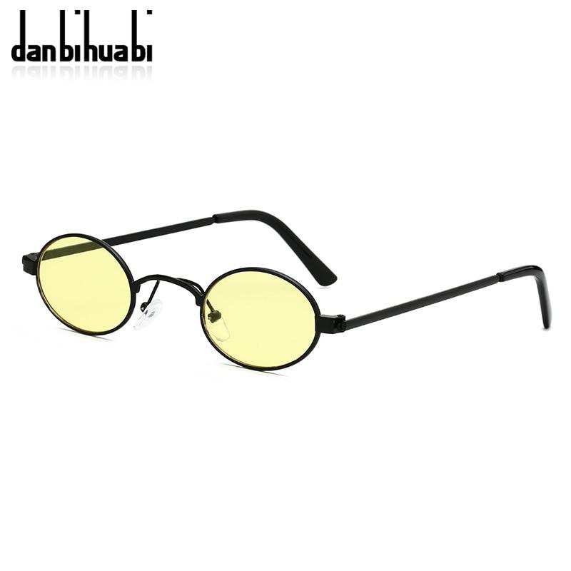 Classic Small Oval Sunglasses Women Men Steampunk Metal Frame Sun Glasses Unisex Vintage Eyewear Oval Driving UV400 Gafas De Sol 4