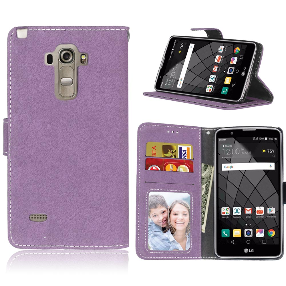 PU Leather Wallet Cell Phone Case Cover For LG G4 Stylus LS770 Cases Frosted Flip Cover Case Card Holder Bag for LG G Stylo H631