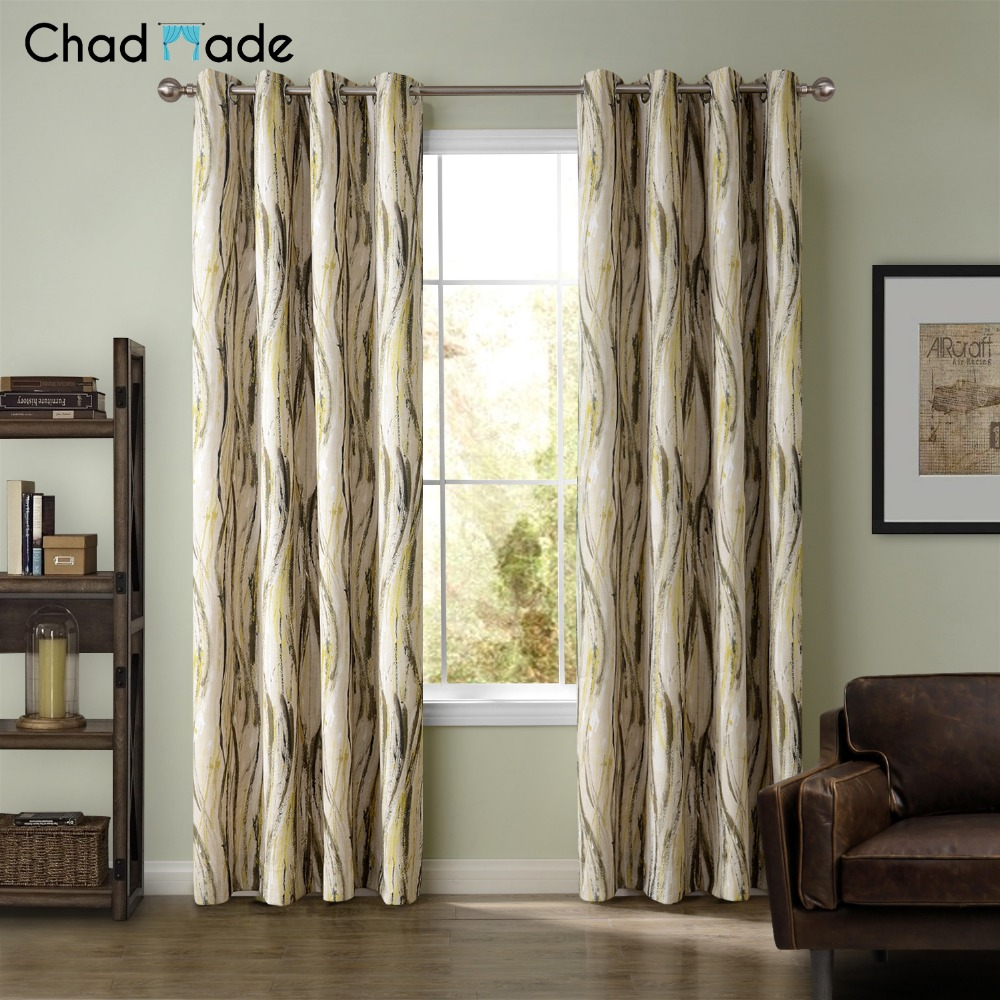 Printed curtains living room - Chadmade Printed Curtain Design For Living Room Bedroom Home Decoration Modern Blackout Lined Curtains Drapes Custom