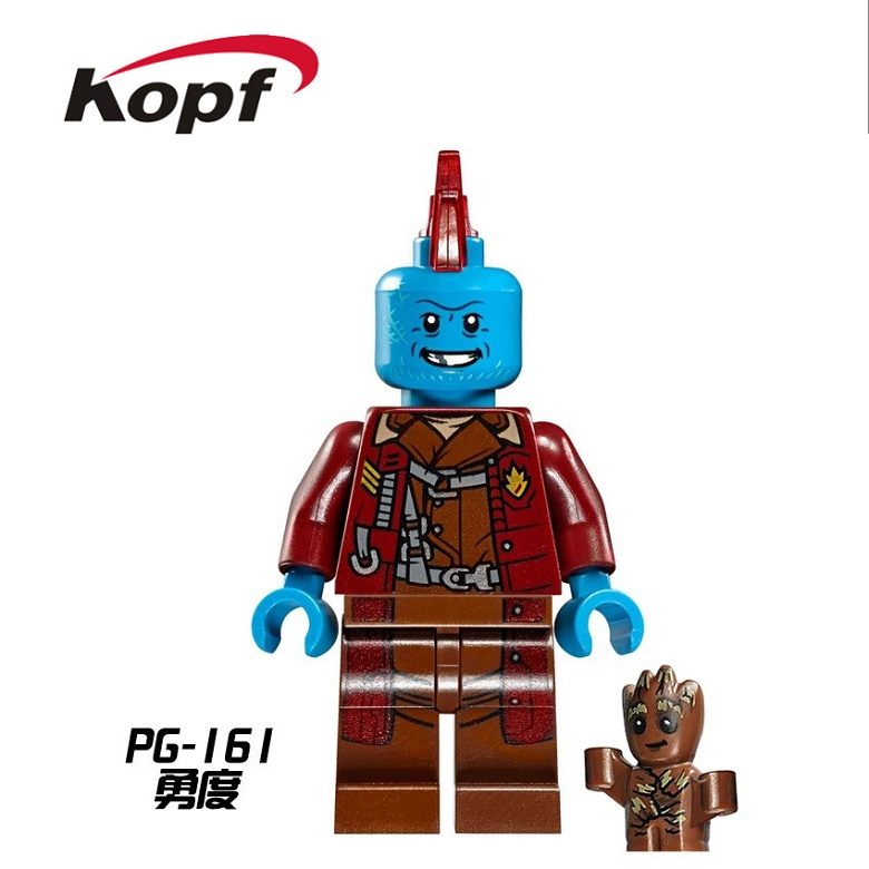 20Pcs Building Blocks Super Heroes Yondu With Star Lord Guardians of the Galaxy Bricks Christmas Toys for children PG161