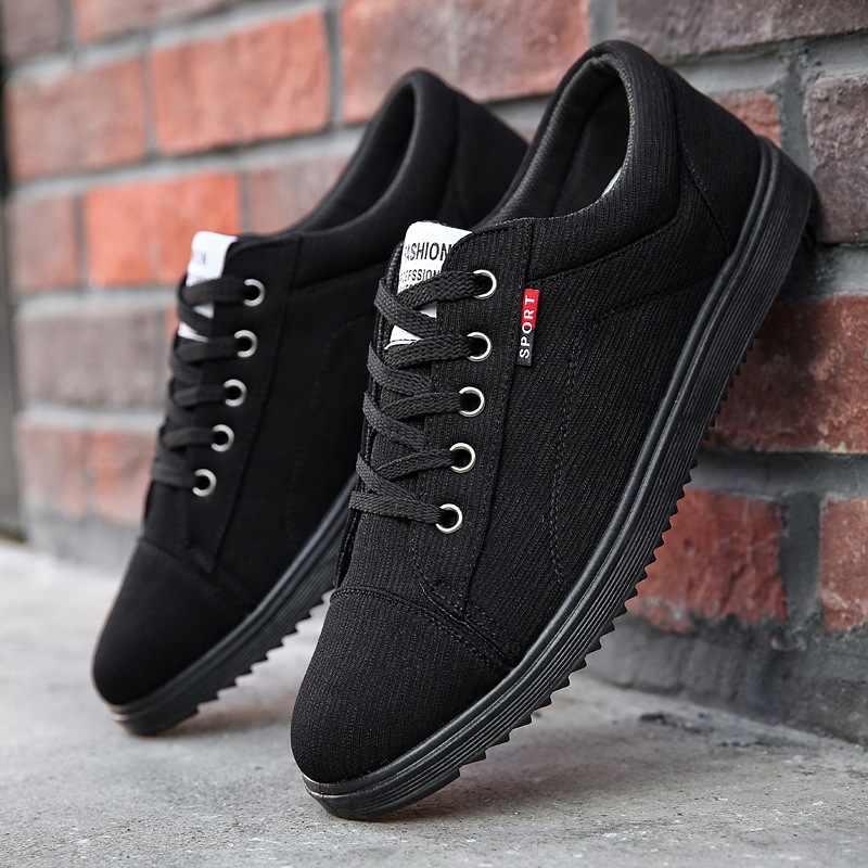 2019 גברים נעליים יומיומיות תחרה עד נעלי גברים להחליק על Mens סניקרס אופנה זכר נעליים למבוגרים אור הליכה נעליים בתוספת גודל 45