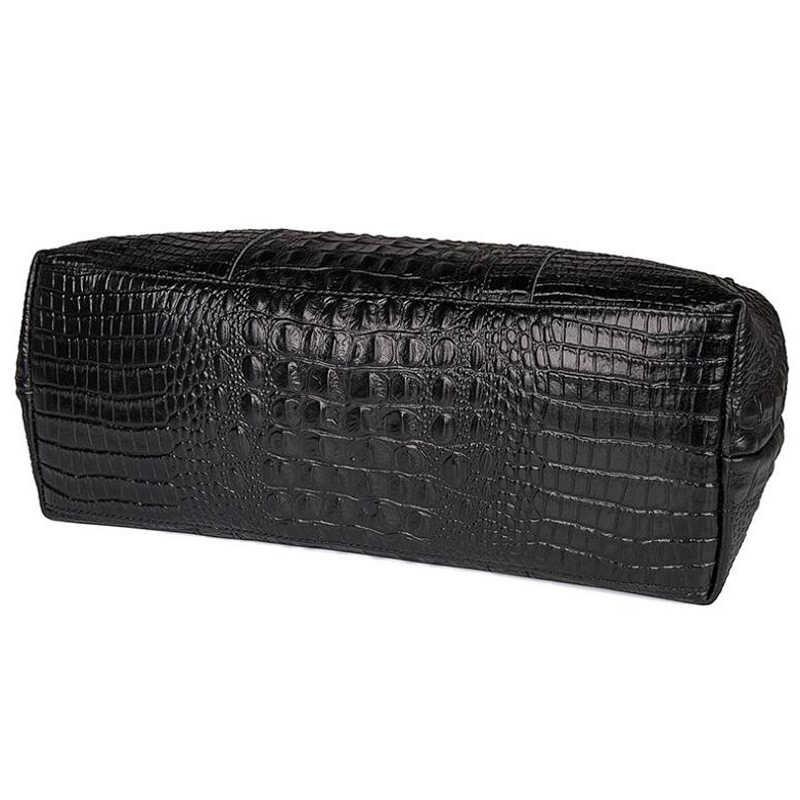 ANAPH Женская вести чемодан элегантный Аллигатор лакированная кожа ноутбук путешествия вещевой мешок ночь сумки для выходных черный