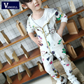 2016 latest autumn and winter selling children's sports suit girls cotton printed large flowers hooded sweater suit