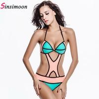 2017 Hot Sale Personality Bodysuit Sexy One Piece Swimsuit Backless Swimwear Women Bathing suit Beachwear Hollow Out 11032