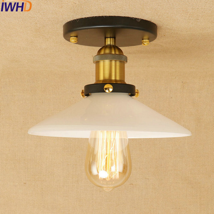 Frosted Glass Loft Style LED Ceiling Lights RH Iron Industrial Vintage Ceiling Lamp Fixtures Home Lighting Bar Lamparas De TechoFrosted Glass Loft Style LED Ceiling Lights RH Iron Industrial Vintage Ceiling Lamp Fixtures Home Lighting Bar Lamparas De Techo