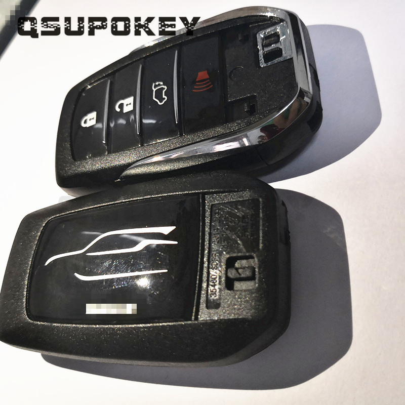 QSUPOKEY Replacement New Style2/<font><b>3</b></font>/4 <font><b>Button</b></font> Car <font><b>Remote</b></font> Case With Emergency <font><b>Key</b></font> Fit For SW4 FOR HILUX FOR <font><b>Toyota</b></font> Smart <font><b>Key</b></font> Cover image