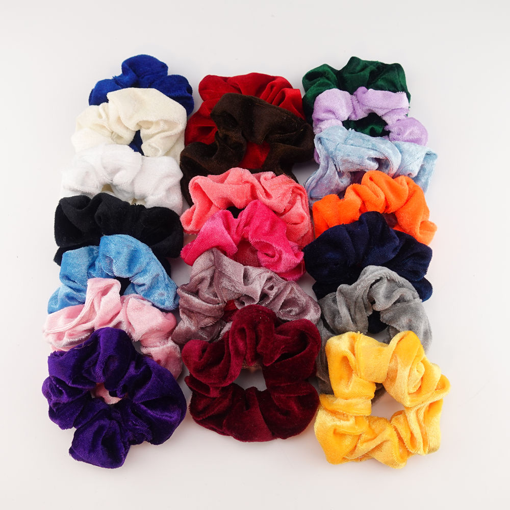 Fashion Velvet Soft Elastic Hair Rubber Bands Holder Tie Rope For Women Girls Scrunchie Headbands Hair Accessories Ring Ponytail