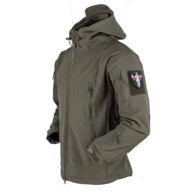 Hommes armée Sportswear chasse randonnée Sport vestes militaire tactique extérieur doux Shell capuche veste imperméable hommes coupe-vent