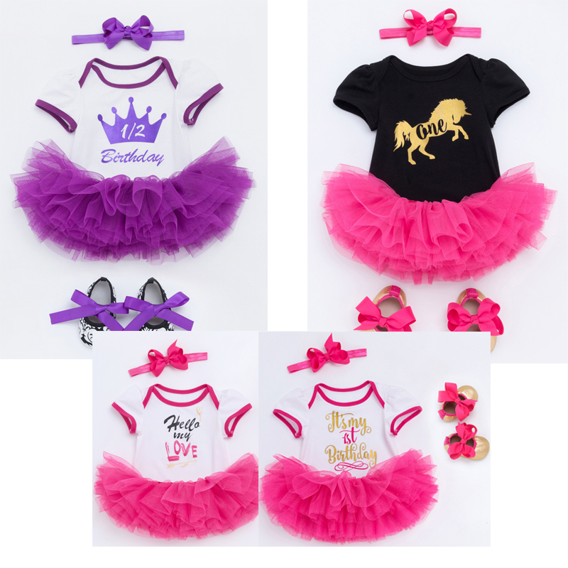 Cute Princess Dresses For Girls Infant Baby 1 Year Birthday Dress Outfits Vestido Newborn Baby Girl Summer Party Set Kids Cloth