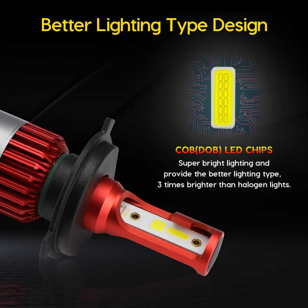 Zdatt DOB H4 LED Bulb Car Headllight LED H7 H1 H11 72W 10000Lm Car Light 9005 9006 HB4 HB3 H8 H9 12V 6000K Auto Headlamp Lamps
