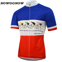 NOWGONOW Велоспорт Джерси Французский флаг сборной мужчины велосипед Костюмы велосипед Носите pro дорога Майо Ropa Ciclismo большой тур