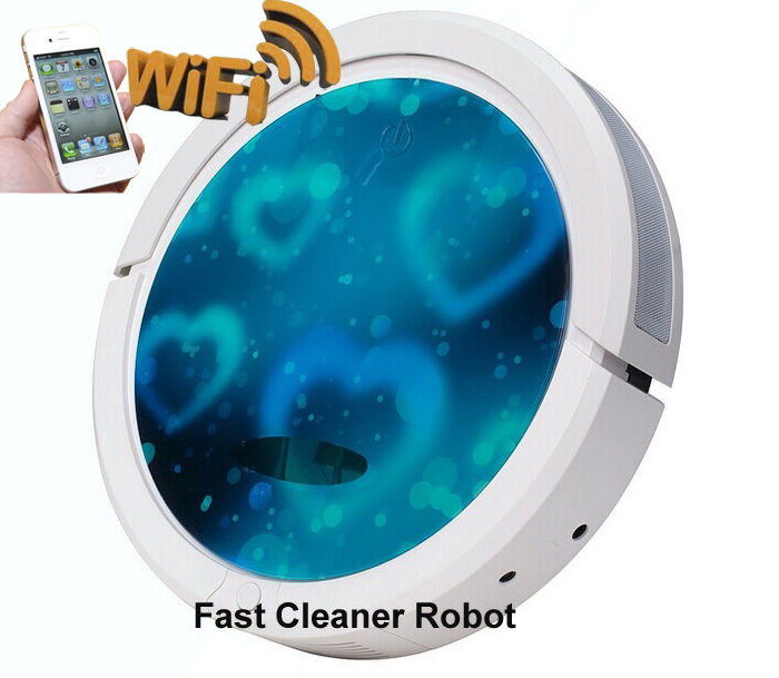 Newest Arrvial WIFI Smartphone App Control Most Powerful Robotic Vacuum Cleaner For Home Updated With 150ML Water Tank