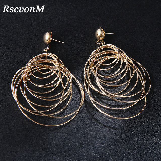 RscvonM Round Big Circle Gold Vintage Dangle Earrings Metal Maxi Jewelry Party Statement Charm Cheap Long.jpg 640x640 - RscvonM Round Big Circle Gold Vintage Dangle Earrings Metal Maxi Jewelry Party Statement Charm Cheap Long Earrings Wholesale